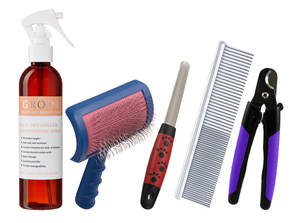 Basic Grooming Tools Kit as Recommended By Amada Valdez of That Dog Lady of Anchorage, Alaska