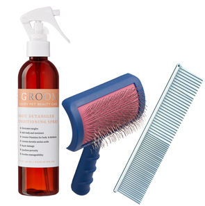 Brush Out Kit as Recommended by Kristie Beresford of the Pink Paw Spa of Woodbridge, VA