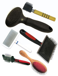 Groomers Mall Professions Pet Brushes for grooming dogs, cats, horses and other pets