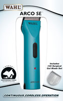 Wahl ARCO Clipper in Teal Color with a 45 Blade