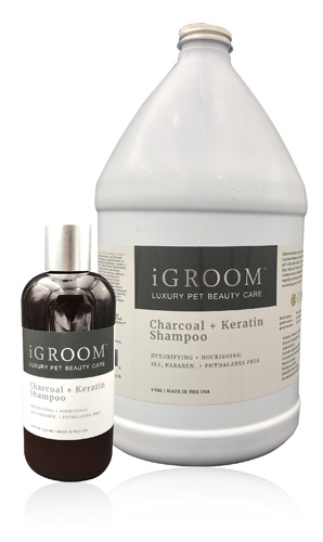 iGROOM Charcoal and Keratin Luxury Shampoo for Dogs