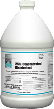 Shop Care 256 Concentrated Disinfectant for grooming shops, kennels and veterinary facilities