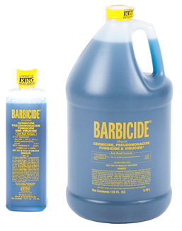 Barbicide Concentrate for disinfecting grooming equipment